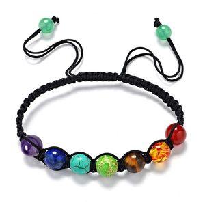 Jewelry - New 7 Color Chakra Natural Stone Bracelet
